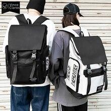 Urban Man Canvas Backpack Men's 15.6 Inch Laptop Backpacks Large Capacity School Backpack for Teenagers Unisex Simple Travel Bag