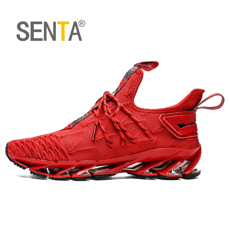 SENTA 2019 Blade Running Shoes Men's Professional Athletic Sneakers Super Light Sport Walking Trendy Cushioning Athletic Shoes