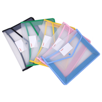 A4 transparent file bag thickened storage folder waterproof snap folders large capacity document hold bags office supplies new
