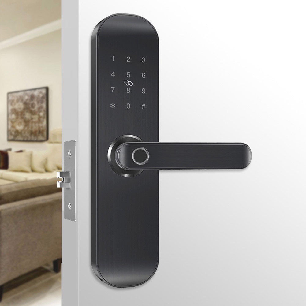 Image 2 - Yi LOCK smart security biometric electronic fingerprint/rfid/key/password/app remote door lock with 5052 mortise-in Electric Lock from Security & Protection