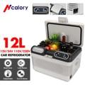 12L автомобильный холодильник 75 Вт компрессора охладителя Портативный с светодиодный Дисплей охлаждения и потепления 2 способа зарядки для ...