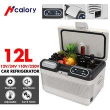 12l refrigerador do carro 75w compressor portátil com display led refrigeração & aquecimento 2 métodos de carregamento para viagem acampamento
