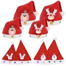 Hats Cosplay-Cap Christmas-Party-Favors Kids LED for Adult Santa-Claus Cotton 1pcs