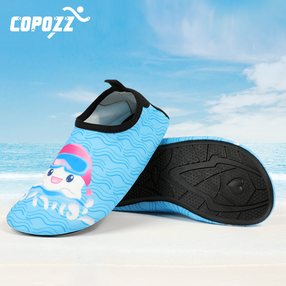 Children Quick Dry Snorkel Swim Aqua Water Shoes Casual Footwear Barefoot Lightweight Socks For Beach Pool Kids Cartoon Slippers