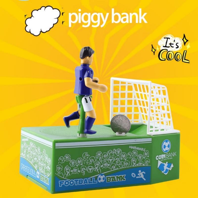 Kids Gift Cartoon Football Savings Pot Electric Piggy Bank Soccer Player Goal Kicking Coin Bank Football Piggy Bank Money Box