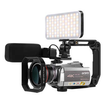 Videocámara 4K cámara de vídeo profesional ORDRO AZ50 30fps 64X Zoom Digital visión nocturna videocámara Filmadora Vlog