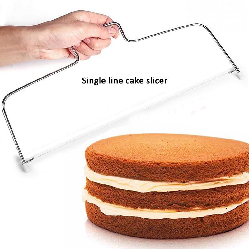 Purposeful Stainless Steel Wire Cake Slicer Adjustable Level Leveler Slices Cutter Tool Kitchen Bakeware Cake Accessories Baking Gagdets Elegant And Graceful