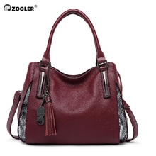 ZOOLER 2017 NEW women leather bag genuine handbags top handle bolsa feminina classic luxury quality designer#6051