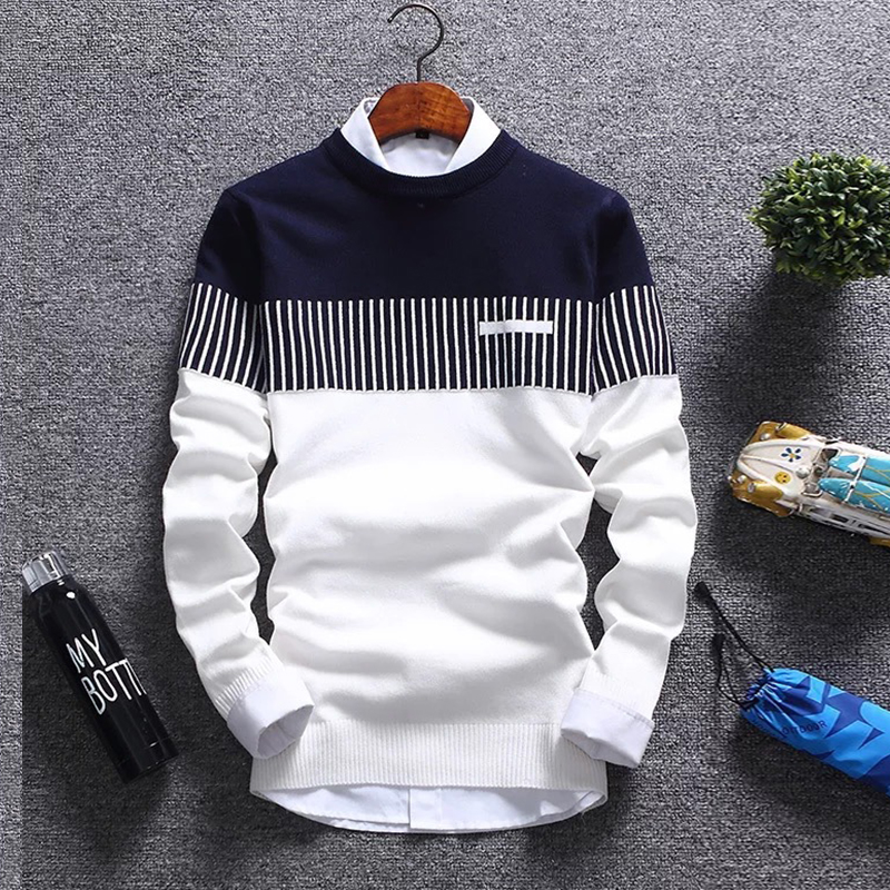 Men's  Casual Autumn Winter Warm Round Neck Sweater Knitwear Pullover Jumper Tops Plus Size