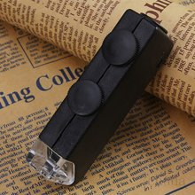 Mini 60x-100x Illuminated Zoom Pocket Microscope Magnifier Loupe Manual Adjustment Focus For Perfect Vision luckyzoom stereo zoom microscope focus adjustment arm microscope head holder ring to stand post arbor microscope accessories
