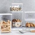 Скандинавский прозрачный акриловый ящик для хранения  высококачественный пищевой сушеный порошок  смешанные зернистые чайные кухонные со...