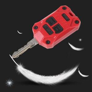 Funda carcasa para llave de coche para Jeep Wrangler JK 2008-2017 Compass Patriot 2011-2016, carcasa protectora para llave, accesorio Interior de coche