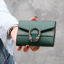 Vintga Magnet Buckle Wallets Purses Dragon Head For Women Gi