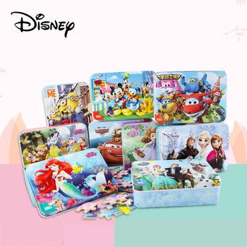 Disney Puzzle 3d Frozen 2 Puzzle 100 sztuk Puzzle edukacyjne dla dzieci drewniane Puzzle Mickey Minnie Puzzle Aisha dla dzieci tanie i dobre opinie 7-12m 13-24m 25-36m 4-6y CN (pochodzenie) Unisex Drewna COMMON cartoon Inedible