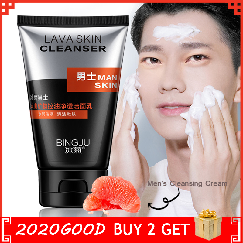Skin Care Face Washing Man Oil-control Facial Cleanser Pore Cleaner Moisturizing Men Cool Deep Cleaning Refresh Moist Face Care