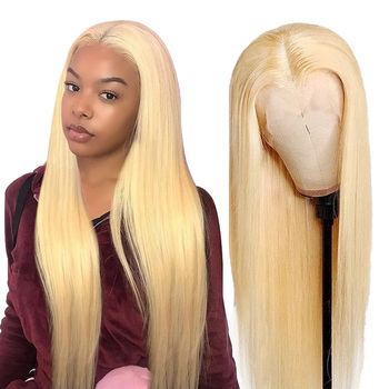Blonde 613 Lace Front Wigs Malaysian Lace Front Human Hair Wigs For Women HD Transparent Straight Lace Frontal Wigs Wigs 150% image