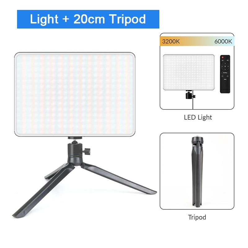 Hdd6960f15dd446498290cb9f7cb88f30M Dimmable LED Video Light Panel EU Plug 2700k-5700k Photography Lighting For Live Stream Photo Studio Fill Lamp Three Color