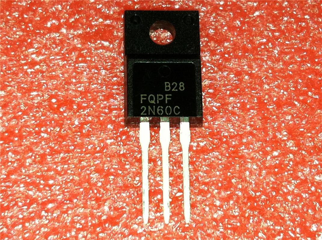 10pcs/lot FQPF2N60C 2N60C 2N60 TO-220F 600V 2A New Original In Stock