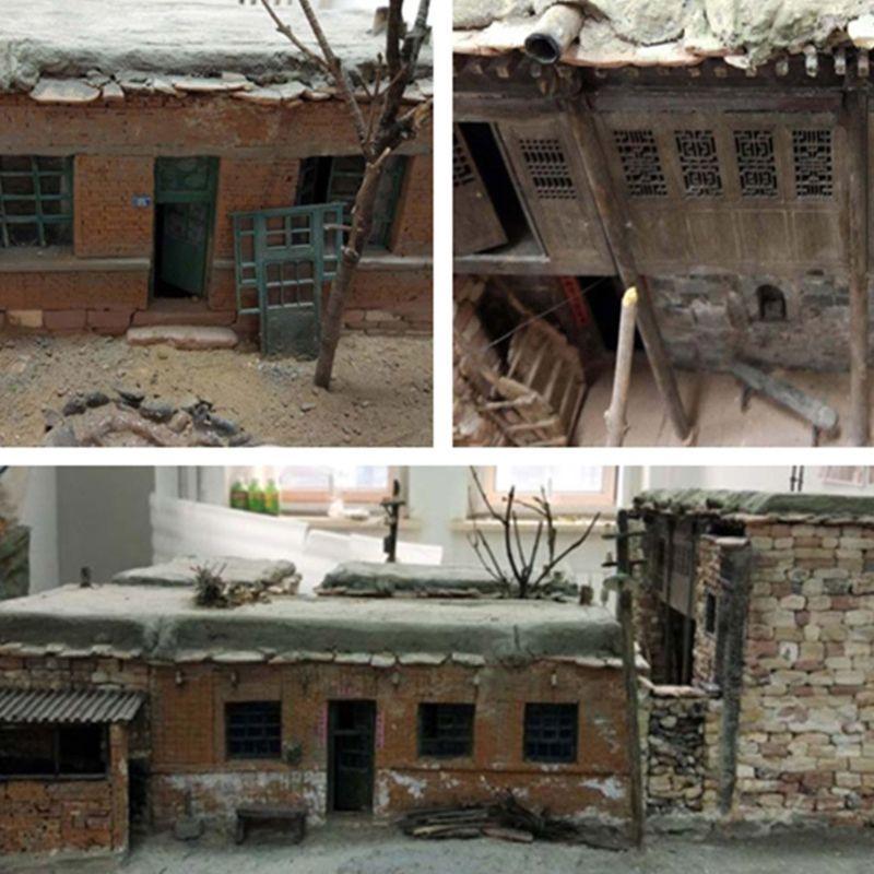 100/80/70 Pcs 1/16 1/35 Schaal Miniatuur Baksteen Tegels Scène Model Diy Zand Tafel Handleiding Muur Architectonische Landschap Model