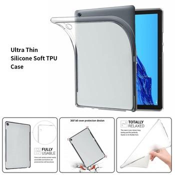 A prueba de golpes a prueba de caja de mesa para Lenovo Tab E7 E8 E10 P10 X705F X104F 8304F 7104F para Lenovo Yoga Tab 5 X705F clara suave TPU de la cubierta