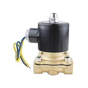 "Image 2 - 1/2 ""3/4"" נמוך לחץ 10bar פליז מים גז סולנואיד שסתום 24VAC 110VAC 12VDC EPDM חותם"