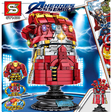 SY1400 Kid Toy Edcation Model Baby Toys Super Heroes Avengers 4 The Infinite Gloves Of Thanos Sets Building Block