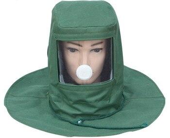 מגן מגן פנים אבק הוכחה אפר ניקוי חול כובע צבע-ריסוס כובע עבור טחינה תעשייתית ועבודה הגנה