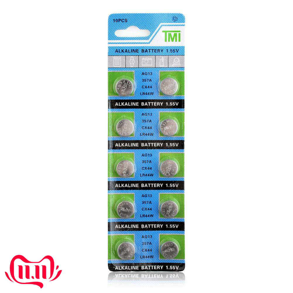YCDC 10Pcs LR44 A76 AG13 SR1154 357 LR 44 Cell battery batteries Coin 1.55V Alkaline Battery For Watch Toy calculator