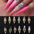 7 мм x 17 мм/10 шт., треугольные Стразы для дизайна ногтей, амулеты для ногтей, наклейки для ногтей, гелевые легированные амулеты, треугольные 3D П...