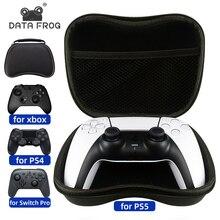 Data Frog EVA twardy uchwyt gamepada futerał do przenoszenia na PS5/Xbox One 360/PS4 obudowa ochronna do przechowywania Nintendo Switch Pro/PS3 Gamepad