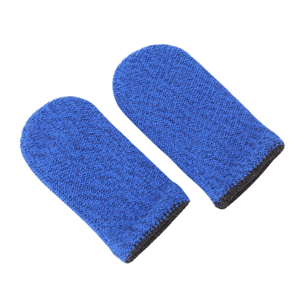 2pcs Finger Cover Breathable Game Controller Finger Sleeve For Pubg Sweat Proof Non-Scratch Touch Screen Gaming Thumb Gloves