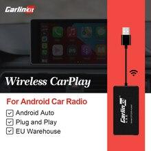 Carlinkit llave electrónica CarPlay inalámbrica USB, sistema Android para coche modificado, accesorios para coche Android, Autokit de servicios para coche, Kit negro