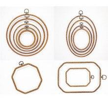 Aro de bastidor de madera para manualidades, aro de bordado Simple, Herramienta de punto de cruz circular, artesanía del hogar, herramientas y accesorios de costura