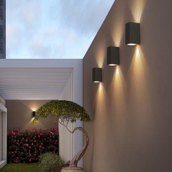 5W 10W zewnętrzne oświetlenie ścienne LED wodoodporny budynek zewnętrzna brama balkon ogród oświetlenie zewnętrzne aluminium światło werandy tanie i dobre opinie Heevye Nikiel szczotkowany HVY-10W Nordic Design ROHS IP65 85-265 v Kinkiety Nowoczesne Oświetlenie domu Klin Ze stopu aluminium ze stopu aluminium