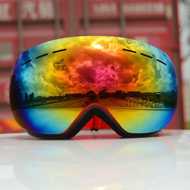 Skiing Goggles Single Layer UV 400 Protection Big Ski Mask Skiing Glasses Men Women Snowboard Goggles