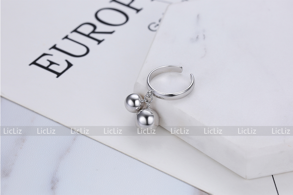 Hdd6a160c9e41416480b642db8771ffdei LicLiz 925 Sterling Silver Open Adjustable Cuff Rings for Women Round Circle Ring Jewelry Anillos Plata 925 Para Mujer LR0323