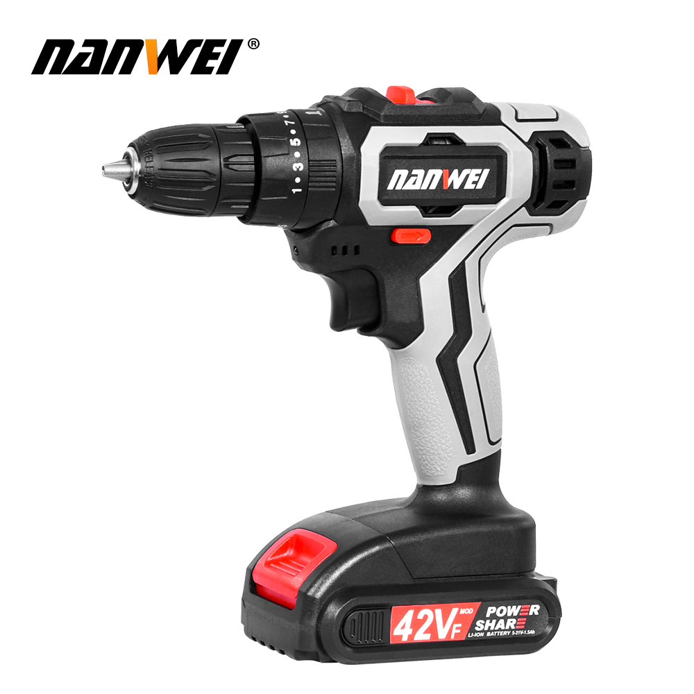 Tools : 21V 3 In 1 Electric Cordless Impact Drill 13mm 2-Speed Rechargable Electric Screwdriver Drill Li-Ion Battery