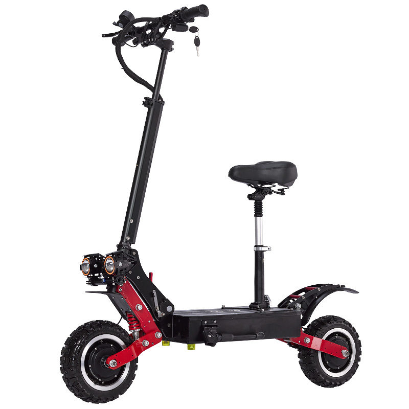 janobike 85km/h <font><b>electric</b></font> <font><b>scooter</b></font> 5600W Dual <font><b>motor</b></font> <font><b>scooter</b></font> <font><b>electric</b></font> All aluminum alloy kick <font><b>scooter</b></font> with Hydraulic brake image
