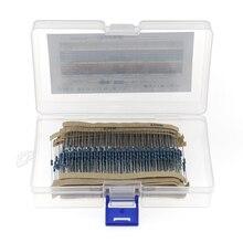 600pcs 30Value 1% 1/4W resistor pack set DIY Metal Film Resistor kit use colored ring resistance (10 ohms~1 M ohm)