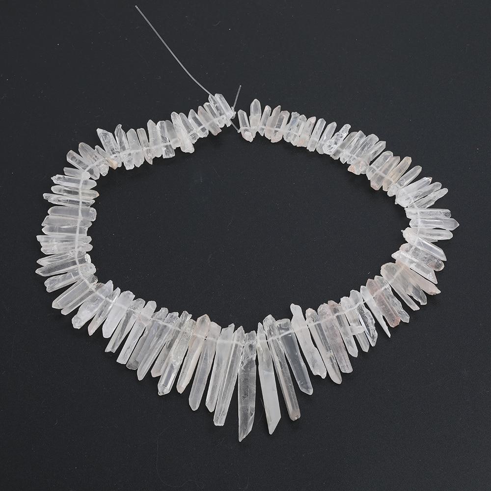 Cristal de Quartzo Aprox Pces Strand Natural Branco Vara Ponto Solto Contas Pingente Cristal Briolettes Jóias Ef-ct-311ambh 100 –