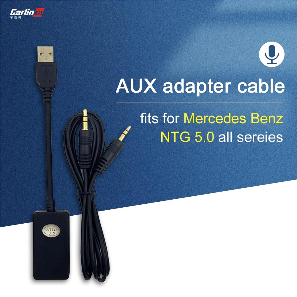 Carlinkit 7 inch Car Screen 3 5mm Audio Input AUX to USB Audio Output For Mercedes Benz A Class B Class C Class E Class GLC GLA