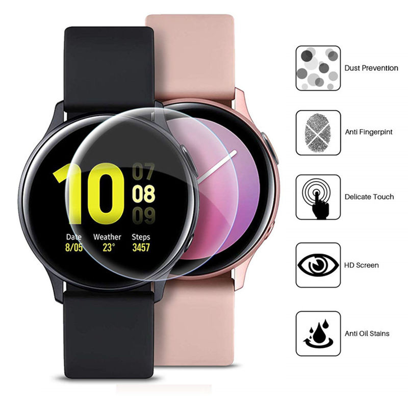 2pcs Full Film For Samsung Galaxy Watch Active 2 Screen Protector 3D Ultra-thin Watch Active2 44mm 40mm Accessories