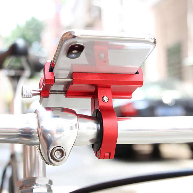 "Image 5 - 2019 New Aluminium Alloy Bike Phone Holder 3.5 6.5"" Cell Phone GPS Holder Bicycle Phone Support Cycling Bracket Mount bike rack-in Bicycle Rack from Sports & Entertainment"