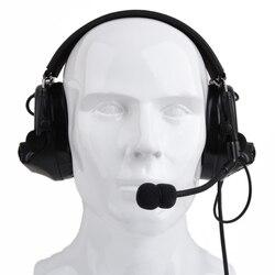 Z-TAC Comtac II taktyczny zestaw słuchawkowy anty-hałas redukcja szumów nauszniki ochrona słuchu-czarny