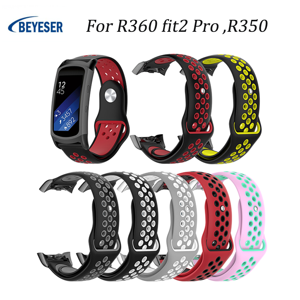 Colorful Silicone Strap For <font><b>R360</b></font> fit2 pro R350 wrist Strap For Fitbit Charge 2 Bracelet Smart Wristband Smart Accessories image