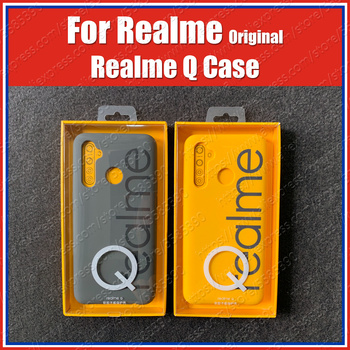 RMX1971 Original OPPO Realme Q Case Soft Rubber Bumper Realme 5 Pro Case Protective Cover|Fitted Cases| |  -