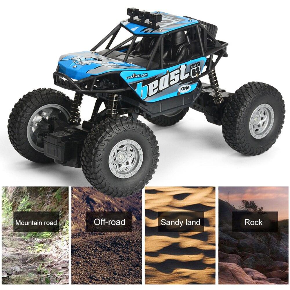 RC Car 4WD 2.4ghz Climbing Car 4x4 Double Motors Bigfoot Car Remote Control Model Off-road Vehicle Toy For Xmas Gfit