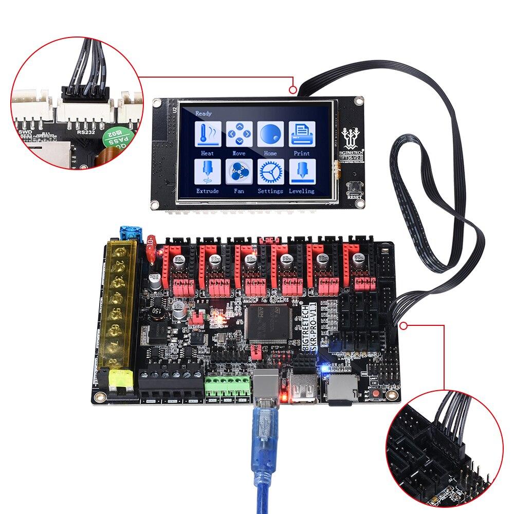 Tableau de commande BIGTREETECH SKR PRO V1.1 32Bit + écran tactile TFT35 + TMC2130 SPI TMC2208 TMC2209 pièces d'imprimante 3D vs V1.3 MKS GEN L - 5