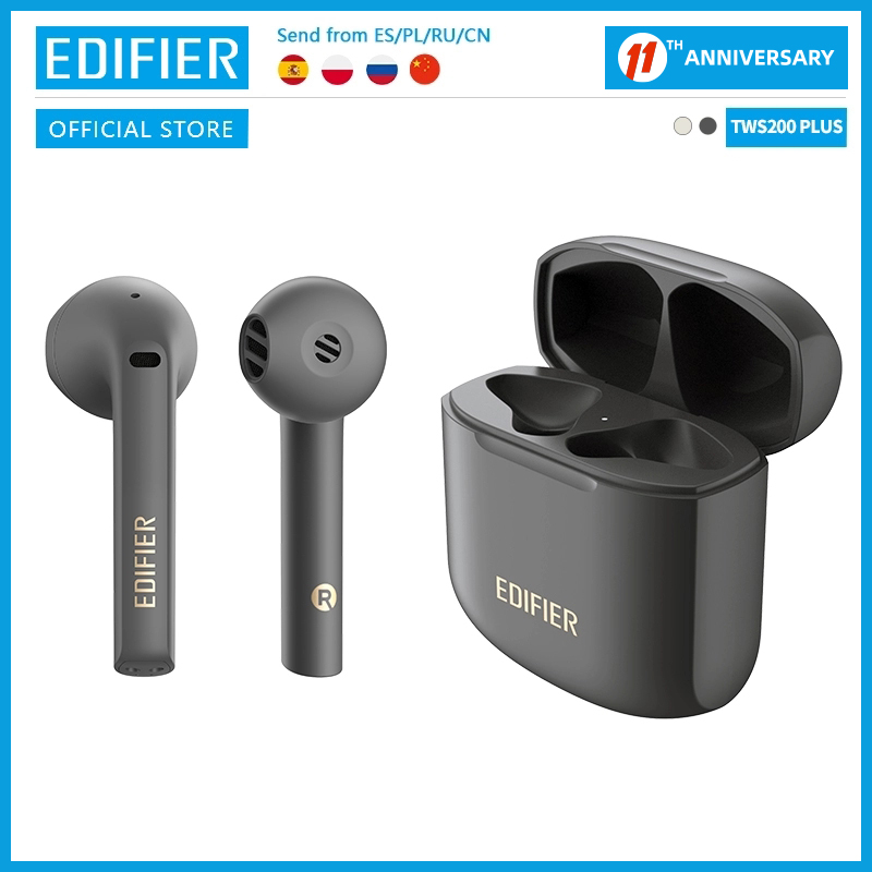 EDIFIER TWS200 Plus TWS Earbuds Bluetooth V5 2 Qualcomm aptX Adaptive Dual Mic noise cancellation Wireless