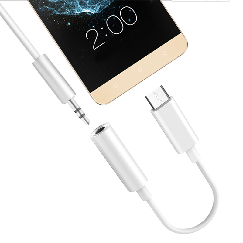 Braided Cable Adapter USB-C Type C To 3.5mm Jack Headphone Cable Audio Aux Cable Adapter for Xiaomi Huawei for Smart Phone